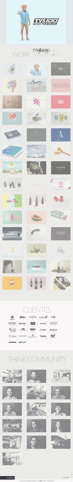 Amazing portfolio website for inspiration. #webdesign #inspiration #portfolio