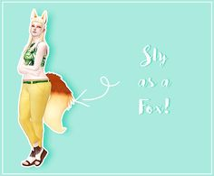 Toskami Sly as a Fox. I SPENT SO LONG LOOKING FOR THESE. The whole time. Cute ears and tail for your fox sims. Linked directly to simsfileshare folder as the creator does not seem to be using adfly on old cc anymore. By: Eirflower Sims 3, The Sims 4 Pc, Fox Ears And Tail, Maxis, Los Sims 4 Mods, Sims 4 Anime, Sims 4 Traits, Sims Packs, Free Sims