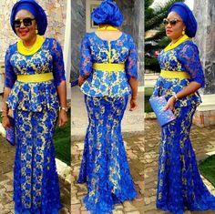 nigerian dress styles Aso Ebi Royal Blue Lace African Long Mermaid Formal Party Dress Gonna Custom Made Plump Sexy Gowns O-neck Half Sleeves Lace Dress Styles, African Lace Dresses, African Dresses For Women, African Attire, African Fashion Dresses, African Wear, African Women, Ghanaian Fashion, Nigerian Fashion