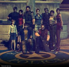 Resident Evil  - almost all the main characters