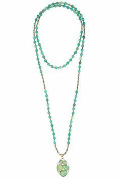 BETTINA DUNCAN - Green Opal Pendant Necklace - $385 - CALYPSOSTBARTH