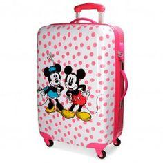 Maleta Mickey y Minnie Dots Mediana + Regalo Minnie