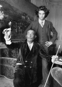 The very young Francois-Marie Banier with his friend Salvador Dali.