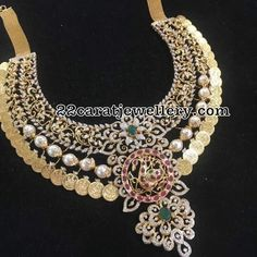 Grand Kasu Necklace with Diamonds