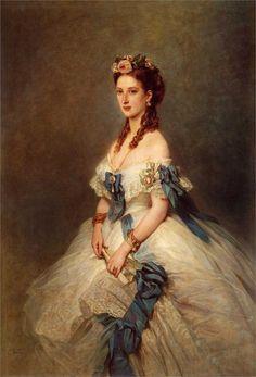 ▴ Artistic Accessories ▴ clothes, jewelry, hats in art - Franz Xaver Winterhalter   Alexandra, Princess of Wales, 1864