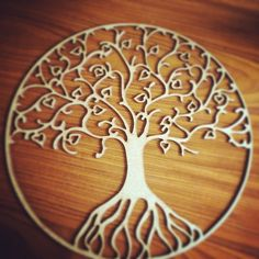 Laser cut 'tree of life' cut from 3mm MDF
