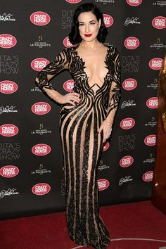 <strong>Dita Von Teese in Zuhair Murad</strong><p>Excuse us while we try to pick our jaws up off the floor. </p>