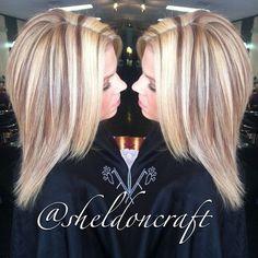 This cut - Modern Summer Hairstyles, Pretty Hairstyles, Straight Hairstyles, Chunky Blonde Highlights, Hair Highlights, Love Hair, Gorgeous Hair, Cute Hair Colors, Hair Hacks