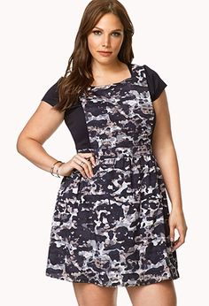 Desert Cool Overall Dress | FOREVER21 PLUS - 2000065559 ... I love the camo pattern!