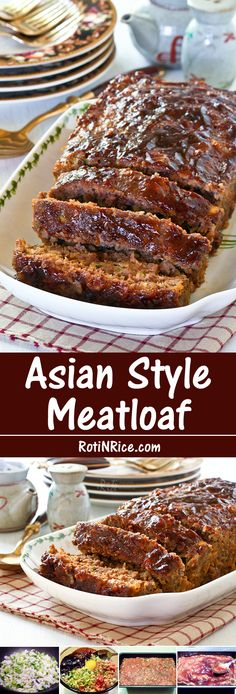 and flavorful Asian Style Meatloaf flavored with hoisin and soy sauce. - Meat -Moist and flavorful Asian Style Meatloaf flavored with hoisin and soy sauce. Meatloaf Recipes, Meat Recipes, Asian Recipes, Cooking Recipes, Meatloaf Recipe With Rice, Dutch Recipes, Free Recipes, Beef Dishes, Gastronomia