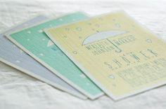 Raindrop Bridal Shower Invitation