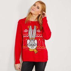 Pullover di Natale 'Bugs Bunny' Donna - rosso - Kiabi - 28,00€