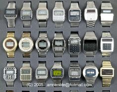 Calculator Watches Collection