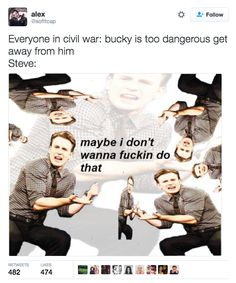 This explanation of Steve Rogers' behaviour throughout Civil War. | 21 Marvel Jokes That Are Just Too Damn Funny