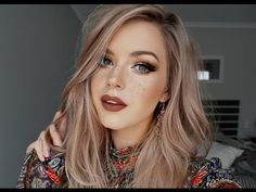 Rustic Boho & Faux Freckles Makeup Tutorial ♡ - YouTube