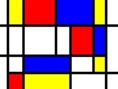 Pintando sonrisas de colores: Piet Mondrian. Rojo, azul y amarillo