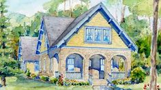 Looking for the best house plans? Check out the Maybrook plan from Southern Living. Southern Living House Plans, Cottage House Plans, Cottage Homes, Cottage Living, Cottage Style, Best House Plans, Dream House Plans, My Dream Home, Dream Houses
