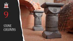 Stone Columns, Secret Diary, Stone Sculpture, Construction Materials, Etsy Store, Basement, Miniatures, Pdf, Clay