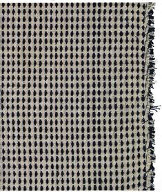 Sample  Fantasy Weave Warp: twined cotton Weft: wool, beige, rayon, black  Published in catalogue for Bauhaus weaving workshop exhibition 1964, Cat. No. 71