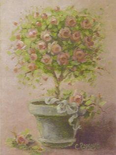 Christie Repasy Topiary Original Canvas Print