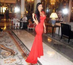 Get this dress on @Emilio Foster or see more #dress #mermaid_dress #gown #maxi #red_dress