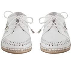 ZIMMERMANN Woven Lace Up Espadrille (1,500 ILS) ❤ liked on Polyvore featuring shoes, sandals, woven sandals, laced sandals, swim shoes, white sandals and summer shoes