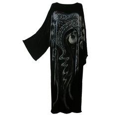 Style Name: Kaftan Dress Colour: Black Print Design: Dolphin / Ghostly Swirls Print Type: Phantom Fabric: Velvet - Silk Viscose Line Shopping, Caftan Dress, Plus Size Beauty, Luxury Shop, Sophisticated Style, Black Print, Wearable Art, Fantasy Life, Bohemian
