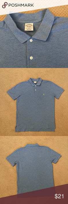 "Brooks Brothers Slim Fit Cotton Performance Polo Brooks Brothers Slim Fit Cotton Performance Polo.  No blemishes.  Looks and wears like it is brand new. The measurement from back of collar to hem is 30"" and measurement from armpit to armpit is 22."" Brooks Brothers Shirts Polos"