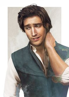 "This seriously looks like how Flynn would look in real life. They even got the nose right. Flynn Rider added to ""Real Life"" Disney guys collection by Jirka Väätäinen Designflynnrider Disney Pixar, Disney Rapunzel, Disney Men, Disney Fan Art, Disney And Dreamworks, Disney Love, Disney Magic, Disney Characters, Punk Disney"
