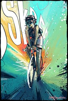 The cute girl on the sexy, white bike is coming to a skidding stop behind you. The Girl on the White Bike Fixi Bike, Bicycle Art, Cycling Girls, Cycling Art, Cycling Quotes, Cycling Jerseys, Road Cycling, Bmx, Bici Fixed