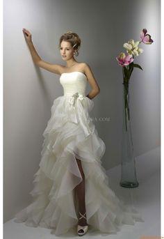 a58c1e87fd2 Meerjungfrau Elegante Luxuriöse Brautkleider aus Organza mit Schleppe
