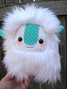 cute monster plush, stuffed Yeti.