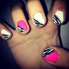 Cute matching nails for the little girls. :)