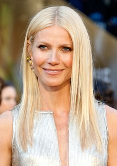 Gwyneth Paltrow gives off serious Nordic vibes with her nearly-white tresses. Ashy platinum   - MarieClaire.com