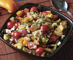 Grilled Salad! Orzo & Grilled Vegetable Salad with Feta, Olives, & Oregano