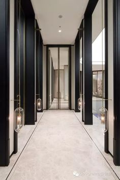 Perfect Best 25 Modern Foyer Ideas On Contemporary 49 Unique Ideal Height Corridor Hotel Hallway, Hotel Corridor, Hallway Mirror, Mirrors, Deco Design, Lamp Design, Modern Foyer, Flur Design, Sales Center