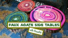 HOW TO: Faux Agate Side Tables