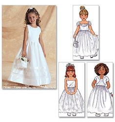 Childs Pageant, Flower girl Dress Sewing Pattern, Girls Party Dress, Childs dress up dress pattern, Size Butterick 3351 Girls Dresses Sewing, Little Girl Dresses, Childrens Sewing Patterns, Dress Sewing Patterns, Dress Flower, Flower Girl Dresses, Flower Girl Dress Patterns, Flower Girls, Première Communion