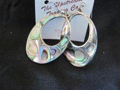 Lovely Abalone Hoop Earrings