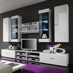 15 Ideas For White Living Room Furniture Tv Stands Tvs Tv Unit Furniture, Home Theater Furniture, Living Room Furniture, Tv Unit Decor, Tv Wall Decor, Home Living Room, Living Room Decor, Modern Tv Wall Units, Rack Tv