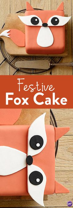 How to Make a Festive Fox Cake - Trot into your next summer party with this adorable fox cake. Wilton's Decorator Preferred Fondant and provided patterns make creating this cake a breeze!