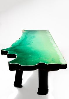 Tables on Water, designed by Gaetano Pesce for David Gill Galleries.