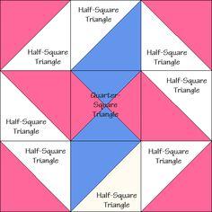 Wandering Star Quilt Block Diagram