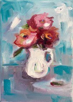 5 x 7 oil on canvas Susie Elder Summer Flowers, Nashville, Oil On Canvas, Artist, Painting, Collection, Artists, Painting Art, Paintings