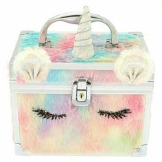 Claire's Fuzzy Rainbow Unicorn Lock Box Claire's Fuzzy Rainbow Unicorn Lock Box