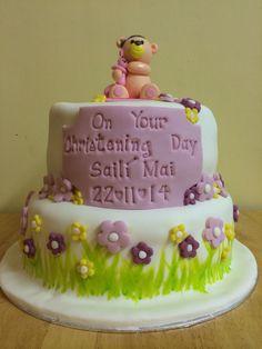 Girl's christening cake Girl Christening, Baking, Cake, Desserts, Food, Pie Cake, Tailgate Desserts, Pastel, Postres