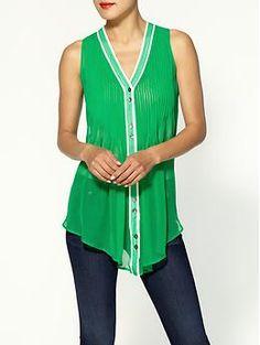 Aryn K. Silk Pleat Front Blouse - $46.99