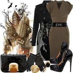 """NYC Patent"" by jacque-reid ❤ liked on Polyvore"