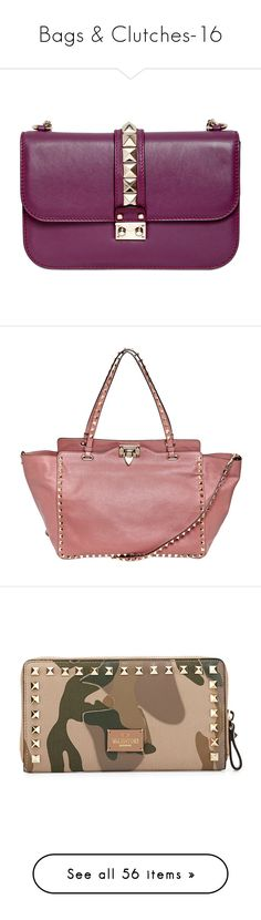 """""""Bags & Clutches-16"""" by larinhacarter on Polyvore featuring bags, handbags, shoulder bags, purses, bolsas, shoulder bag purse, valentino handbags, purse shoulder bag, man shoulder bag e purple handbags"""