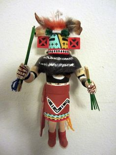"""""""Front view of the He-li-li kachina doll.""""  Support Racing the Rez - a documentary   project in Somerville, MA by Brian Truglio   http://www.kickstarter.com/projects/1808230198/racing-the-rez-a-documentary/posts/160378"""